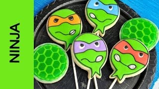 getlinkyoutube.com-NINJA TURTLE COOKIES, DECORATING WITH ROYAL ICING