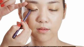getlinkyoutube.com-컬러라인 포인트 메이크업_Color Line Point Make-up