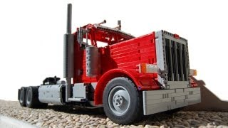 getlinkyoutube.com-LEGO Peterbilt 379, with 18 SPEEDS SEQUENTIAL GEARBOX! by Sheepo