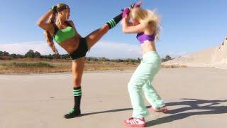 Kung Fu Girl vs Boxer Girl Fight Scene (Tekken / Dead or Alive Style)