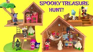 Vampirina & LOL Suprise Dolls Halloween Tree House Cabin Treasure Hunt