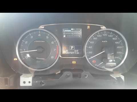 Тестовое подключение рестайловой приборки Subaru XV 2016