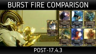 getlinkyoutube.com-Warframe - Burst fire comparison (post-17.4.3)