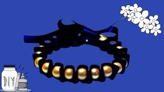 getlinkyoutube.com-Como Hacer Una Pulsera Con Cinta y perlas