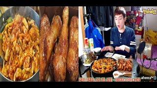 getlinkyoutube.com-BJ깐따삐야 먹방:1#닭갈비+교촌치킨:레드스틱