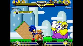 getlinkyoutube.com-MUGEN: Mario Vs. Team Sonic + Sonic & Tails Vs. Team Mario