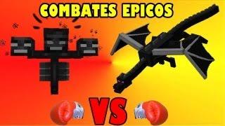 getlinkyoutube.com-ENDER DRAGON VS WITHER BOSS | COMBATES EPICOS EN MINECRAFT| LA PELEA MAS LARGA