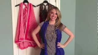 getlinkyoutube.com-Quick Crafts with Brittany Spriggs: How to turn a SCARF into a VEST!