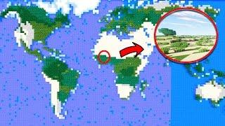 Minecraft - Planeta TIERRA hecho a ESCALA en MINECRAFT (Increíble)