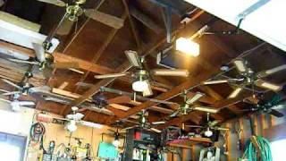 getlinkyoutube.com-Ceiling Fan Display In My Garage-The Old Setup