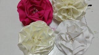getlinkyoutube.com-Como hacer una flor de tela de razo o satin VIDEO No. 133