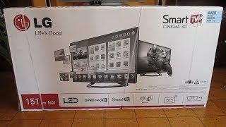 "getlinkyoutube.com-LG 60LA620S 60"" Cinema 3D Smart LED TV | Unboxing & Test"