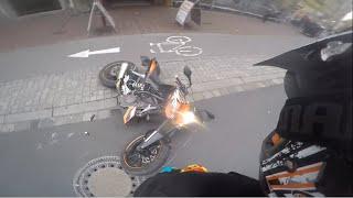 KTM Duke 125 Wheelie Crash | Bike Infected