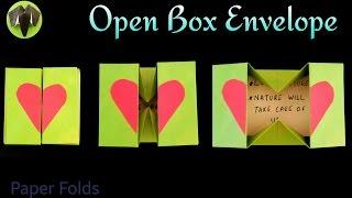 "getlinkyoutube.com-How to make a Paper ""Open Box Envelope ✉ "" - Useful Origami Tutorial 🙏"
