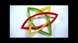 getlinkyoutube.com-パプリカとピーマンの飾り切り ワンポイントマークの作り方 Carving Paprika and Green pepper Garnish