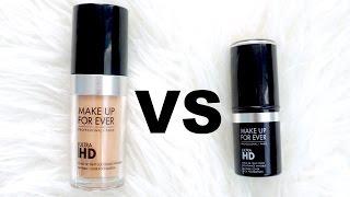 getlinkyoutube.com-Makeup Forever Invisible Cover Foundation VS Stick Foundation | Review