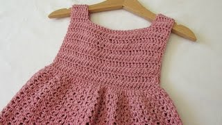 getlinkyoutube.com-How to crochet an EASY party dress - any size