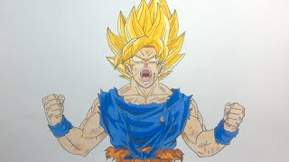 getlinkyoutube.com-Drawing Goku Super Saiyan SSJ - Dragon Ball Z / Frieza Saga