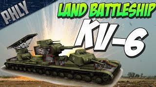 SOVIET SUPER TANK - KV-6 - War Thunder TANKS Gameplay