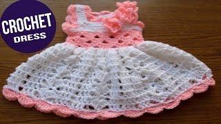getlinkyoutube.com-Vestidos de BEBE Tejidos en Crochet o Ganchillo Parte 4 ( imagenes )