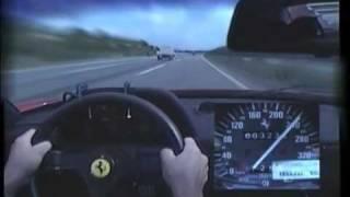 getlinkyoutube.com-Ferrari F40 On The Road 320 km/h