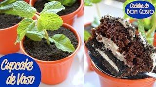 getlinkyoutube.com-Cupcake de Vaso (terra comestível de Negresco / Oreo) | Gabi Rossi | Cozinha do Bom Gosto