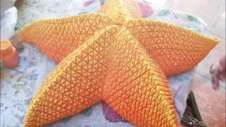 estrella de mar  hecha de reciclado.
