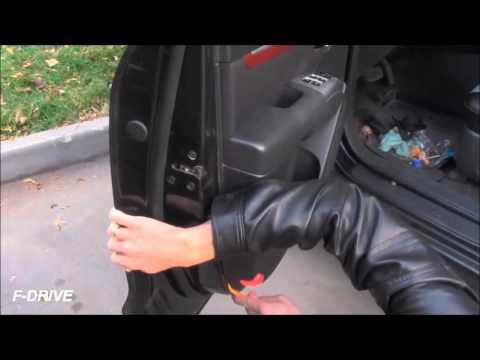 Снятие обшивки двери санта фе / removing the door trim panel Santa Fe