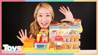 [엘리] 호빵맨 편의점 장난감과 베렝구어 인형 소꿉놀이 | 캐리앤 토이즈