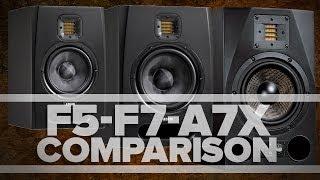 getlinkyoutube.com-ADAM Audio - F5, F7, A7X - Studio Monitor Comparison and Review