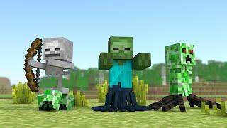 getlinkyoutube.com-Minecraft Escola Monstro #53 Fusão De Monstros - !! Monster School