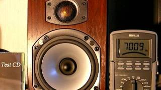 getlinkyoutube.com-小型スピーカで低音を再生 Test with low frequency tone on bookend speaker