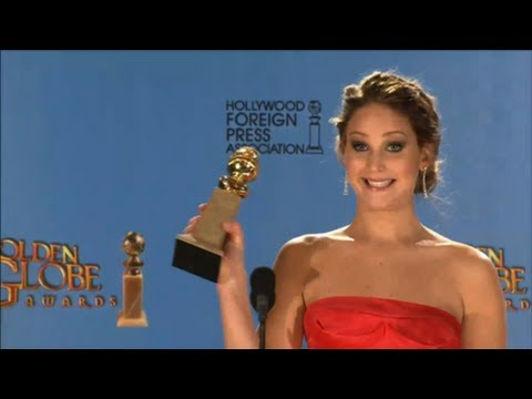 Jennifer Lawrence Talks Best Actress Win in Golden Globe Awards Press Room