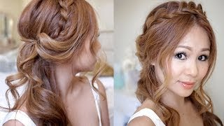 getlinkyoutube.com-Half Updo with Braids and Soft Curls