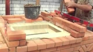 getlinkyoutube.com-Садовая печь барбекю из кирпича с мангалом
