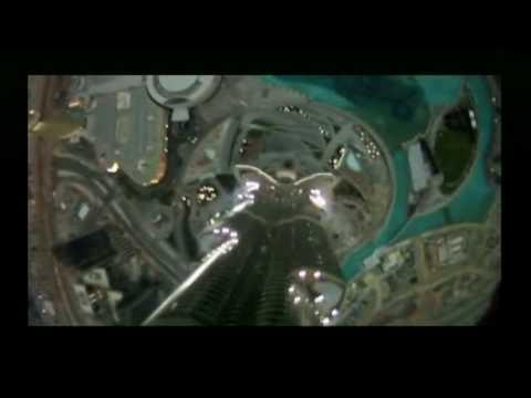 BBC News Base Jumpers Jump off world's tallest building The Burj Khalifa skyscraper in Dubai