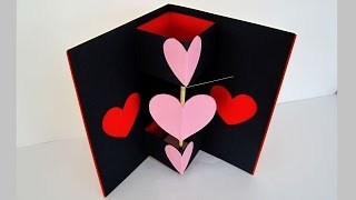 getlinkyoutube.com-Twirling heart valentine's card - learn how to make a greeting card with a spinning heart - EzyCraft