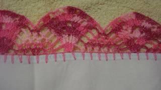 getlinkyoutube.com-Crochet Orilla Tejida Ondas # 6 Servilleta