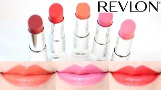 getlinkyoutube.com-Revlon Ultra HD Lipstick Swatches on Lips  5 Shades