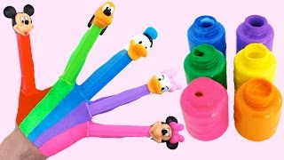getlinkyoutube.com-Learn Colors for Children Body Paint with Disney Pez Candy & Finger Family Nursery Rhymes