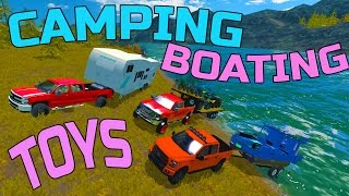getlinkyoutube.com-FARMING SIMULATOR 2015 | GOING CAMPING + BOATING + TOYS | HAULING