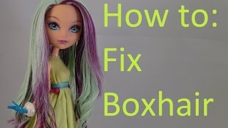 getlinkyoutube.com-Doll Hair Tutorial: Fix boxhair on Ever After High dolls by EahBoy