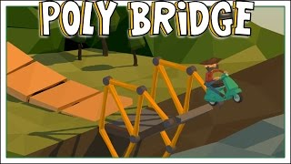 getlinkyoutube.com-SquiddyPlays - Poly Bridge - CRAZY JUMPS! [1]