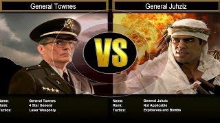 Shockwave Challenge Mode Hard: General Townes VS General Juhziz