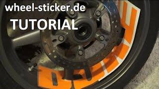 getlinkyoutube.com-Felgenaufkleber anbringen KTM DUKE 690 990 RC4 RC8 Aufkleber Supermoto Felgen
