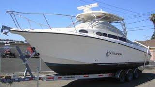 getlinkyoutube.com-Striper 29' Fishing Boat 2901WA  with Twin Diesel ES200
