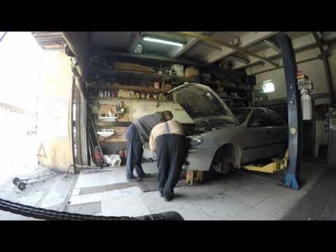 Замена двигателя Daewoo Sens на Daewoo Lanos ,гараж,работа 1 часть