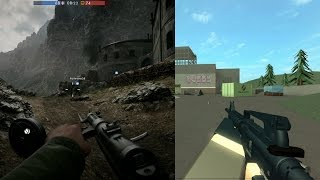 getlinkyoutube.com-Battlefield 1 Vs Roblox: Which has Better Graphics - (Battlefield 1 vs Roblux Graphics Comparison)