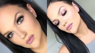 getlinkyoutube.com-BH Cosmetics Carli Bybel Palette Makeup Tutorial | Mauve Halo Smokey Eye