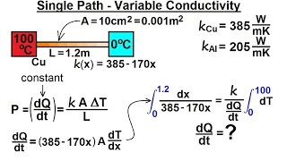 Physics - Thermodynamics: Conduction: Heat Transfer (17 of 20) Single Path - Variable Conductivity